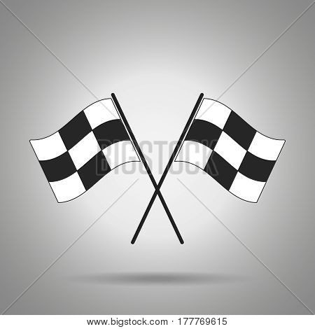 racing flag icon . Crossed racing flags . rush