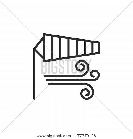 Windsock line icon outline vector sign linear pictogram isolated on white. Wind symbol logo illustration