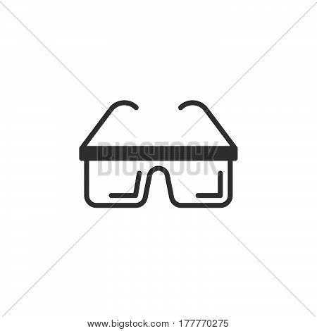 Protective glasses icon vector filled flat sign solid pictogram isolated on white. Symbol logo illustration