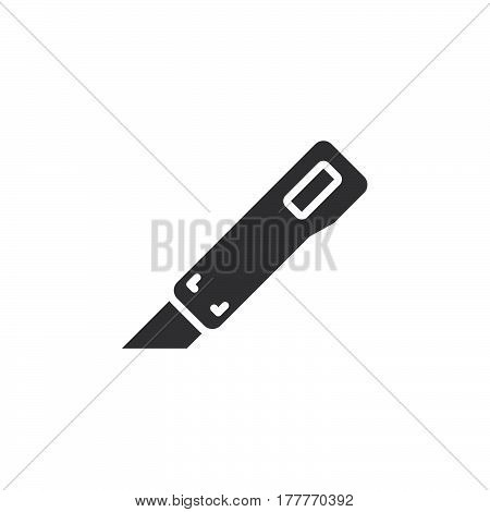 Utility knife icon vector filled flat sign solid pictogram isolated on white. Symbol logo illustration