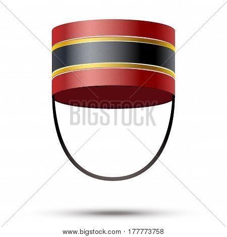 Bellboy Hat. Hotel resort service symbol.  Illustration isolated on a white background.