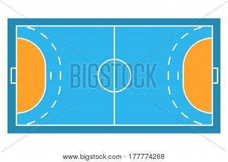 Sample sport field arens of Handball. Flat design. Sporting illustration.