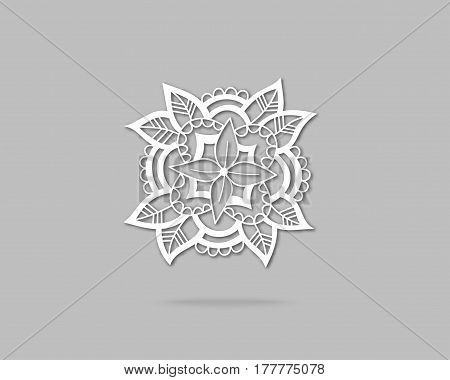 Creative Flower Concept Icon. Abstract Eco Logo Design Template. Emblem from Hand Drawn Lines.