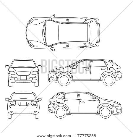 Suv images illustrations vectors free bigstock offroad suv auto outline vector vehicle car model suv illustration of suv automobile blueprint malvernweather Choice Image