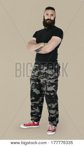 Man Confidence Self Esteem Casual Studio Portrait