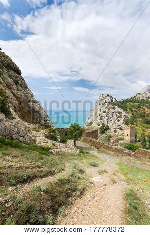 city sudak mountain bolvan / bright summer photo tour of Crimea