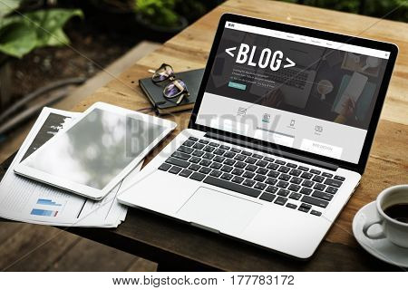Blog Website Article Lifestyle Online Word