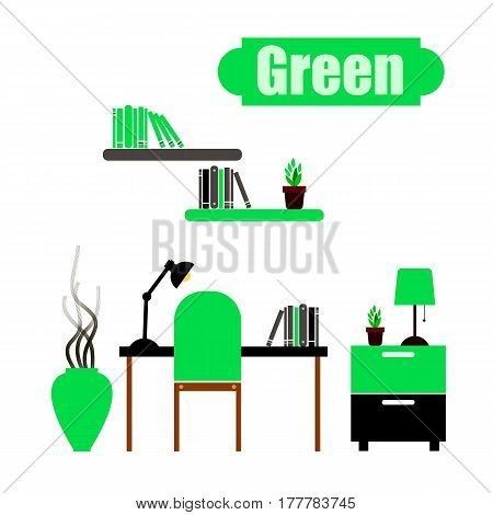 vector interior home furniture design illustration modern