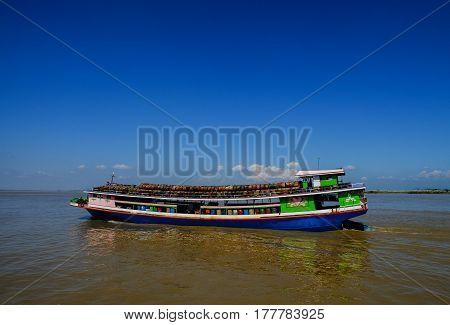 River Scenery In Mandalay, Myanmar