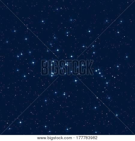 Milky way stars on a dark background.