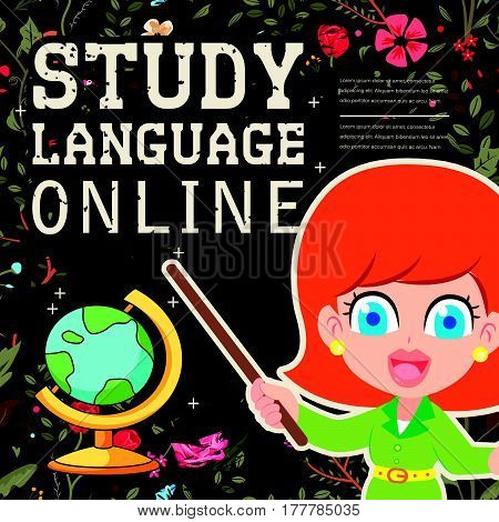 Lovable Study Language Online Banner