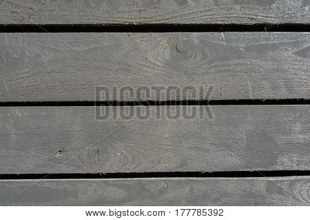 Grey plank wood wall background with black spaces