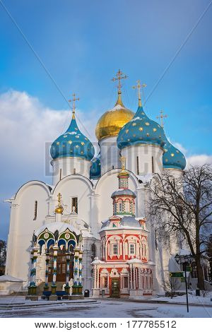 Assumption Cathedral of the Trinity Lavra of St. Sergius in Sergiyev Posad, Russia