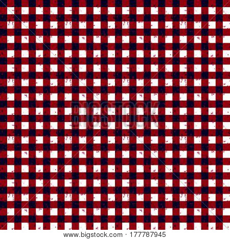 Gingham Classic Style Red and White Seamless Pattern Illustration With Speckled Effect