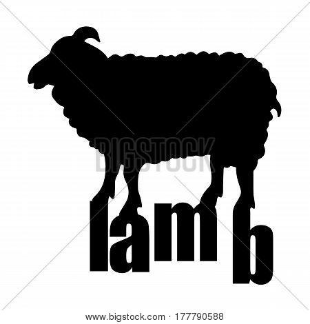 lamb sheep vector animal illustration cute farm wool mammal white nature cartoon