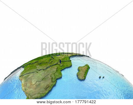 South Africa On Model Of Earth