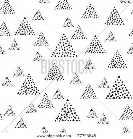 Abstract Seamless Pattern Background With Triangles.