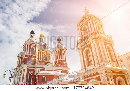 The church of Saint Clement of Rome in Moscow under the suns rays
