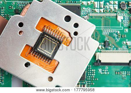 Closeup Of Small Camera Sensor