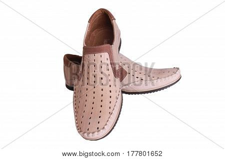 Brown men shoes for old men very fancy fashion