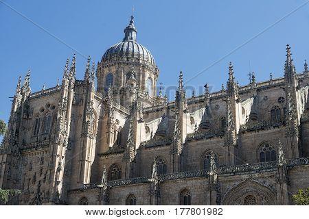 Salamanca (Castilla y Leon Spain): exterior of the medieval cathedral