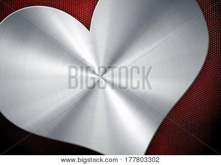 metal mesh with love pattern