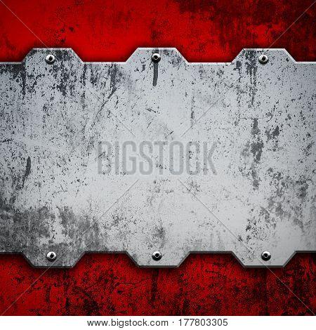grunge metal template background