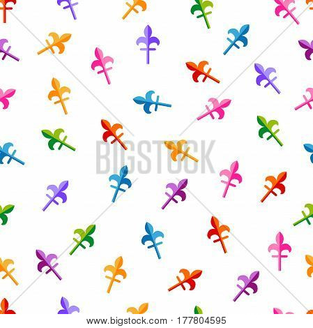 Abstract geometric background for fashion and web design. 1980s-1990s motifs. Colorful on white.