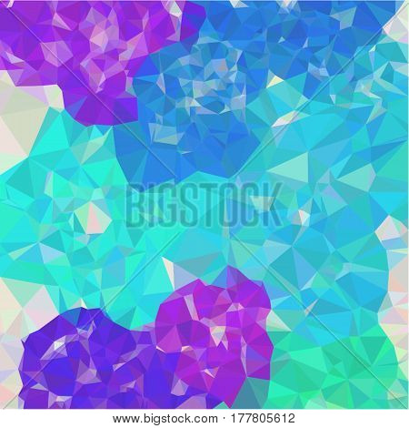Abstract background of small triangles polygon blue and gray fragments light and dark sharp throughout the drawing