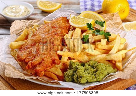 Fried Cod, French Fries, Tartar Sauce