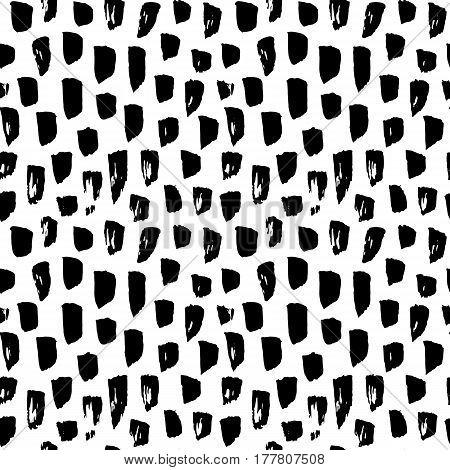 Seamless Pattern Paint Brush Stroke. Vector Illustration of Grunge Tileable Background.