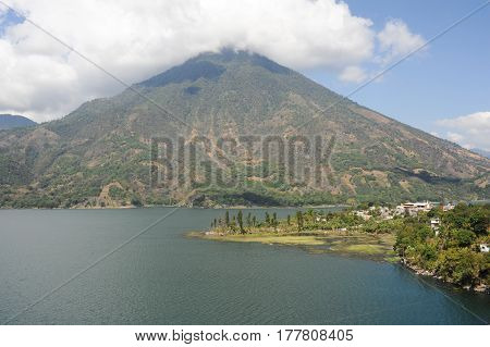 Vulcano San Pedro On The Lake Of Atitlan