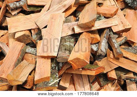 Multitude of wood pieces for background and texture
