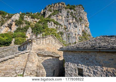 Abandoned monastery of Agia Paraskevi near Vikos Gorge. Monodendri Zagoria Greece