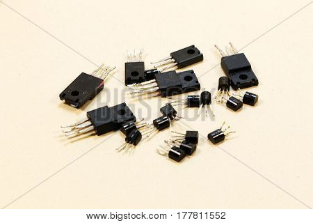 Radio components - a set old of transistors