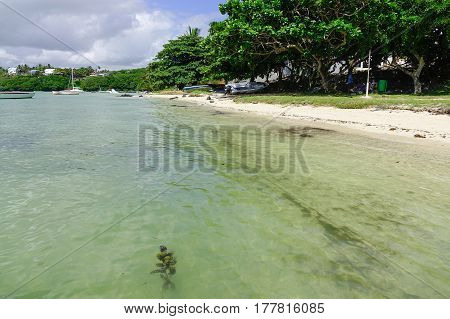 Idyllic Tropical Sea And Turquoise Water