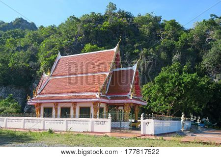 Buddhist temple at the Khao Sam roi Yot national park Thailand