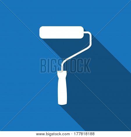 roller icon stock vector illustration flat design