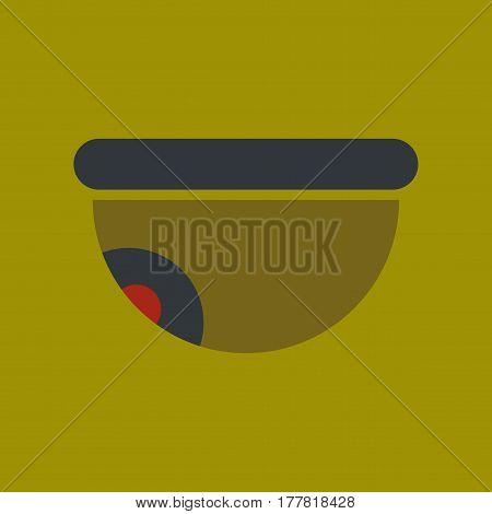 flat icon on stylish background security camera