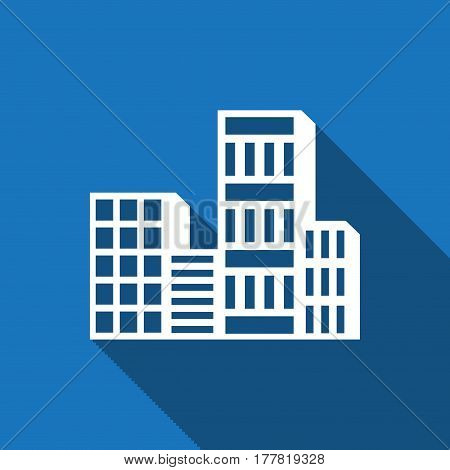 city icon stock vector illustration flat design