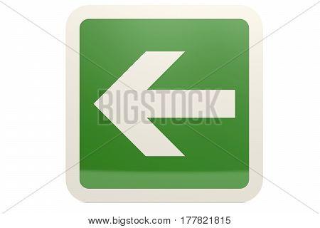 Green Left Arrow Sign