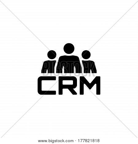 CRM System Icon. Business and Finance. Isolated Illustration