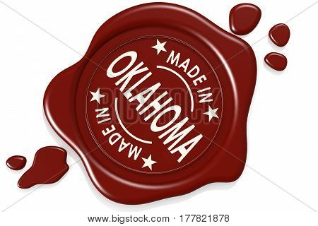 Label Seal Of Made In Oklahoma