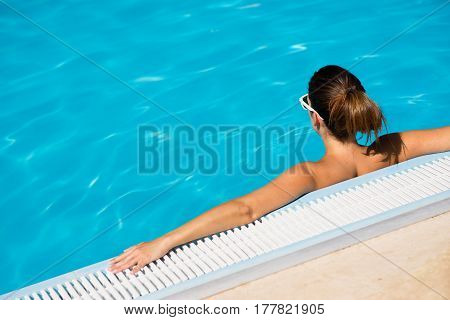 Summer Vacation Relax In Swimming Pool