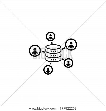 Collecting Data Icon. Flat Design. Business Concept Isolated Illustration