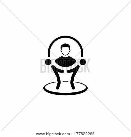 Customer Service Icon. Flat Design. Business Concept. Isolated Illustration
