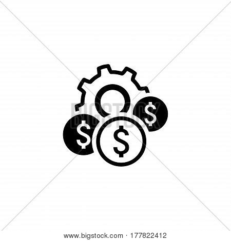 Costs Optimization Icon. Business and Finance. Isolated Illustration