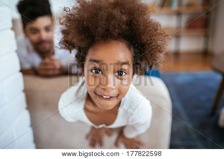 Cute Young Afro Girl