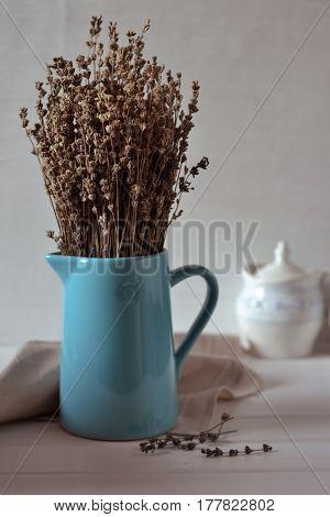 Lavender aromatherapy Dry lavender bouquet. Home decor