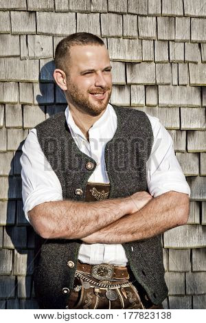 An image of a traditional bavarian man
